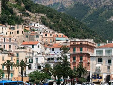 capodanno amalfi in piazza in centro storico foto